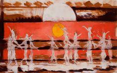 Hans Broek, Turangalila, oil on linen, 125x200 cm