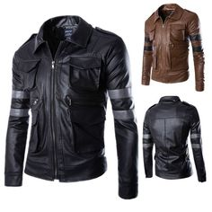 - Product Type: Jackets, Hoodies - Age Group: Adults, Teenagers - Material: Faux Leather, Cotton, Polyester - Feature: Zipper - Style: Biker leather jacket, Resident Evil jacket - Colors: Black, Brown