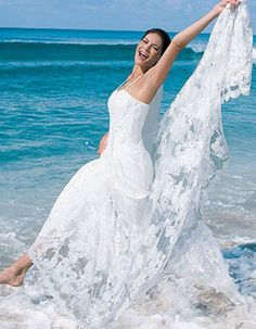 Exotic Beach Wedding Dresses | Flowing Wedding Dresses for The Beach