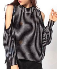 cut out sweater| $17.46  gyaru ulzzang hipster grunge fachin sweater top under20 under30 sammydress