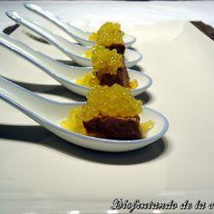 Atún con Soja, Jengibre y Caviar de Mandarina