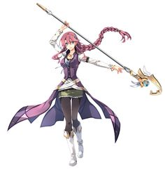 Fantasy Characters, Female Characters, Anime Characters, Female Character Design, Character Art, Anime Outfits, Girl Outfits, Trails Of Cold Steel, The Legend Of Heroes