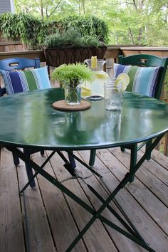 Already have patio furniture? Learn how to refinish it and give it a fresh look!