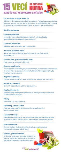 Čo zbaliť na dovolenku s deťmi | Najmama.sk