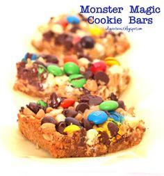 I Dig Pinterest: Monster Magic Cookie Bars
