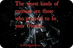 Be careful who you trust...