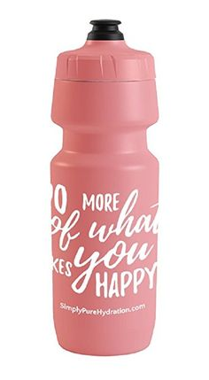 Simply Pure: Specialized Big Mouth Water Bottle with MoFlo Cap - Do More of What Makes You Happy. Pink