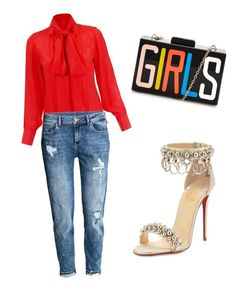 """G I R L S Just Love Dressing"" by itsuniqu3 ❤ liked on Polyvore featuring Christian Louboutin"