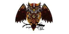 Mechanical Owl, N. Lange on ArtStation at https://www.artstation.com/artwork/2BzbJ