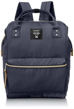 Japan Anello Backpack Unisex LARGE NAVY Rucksack Waterproof Canvas Bag Campus -- This is an Amazon Affiliate link. Continue to the product at the image link.