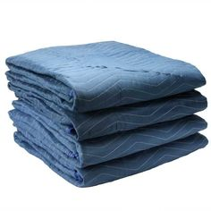 Blue//Dark Pack of 12 45 Lbs//dozen Cheap 72 X 80 Inches Delux Moving Blankets