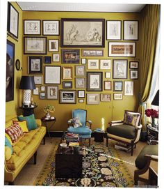 Living room featured in World of Interiors