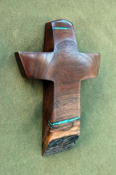 8  high x 5 wide Mesquite Cross with Turquoise by BlackFacedSheep, $44.99