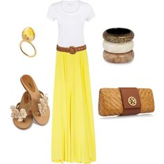 I just got a skirt like this at a thrift store for $4 and I have a white shirt I got from Target for $8. Already have some sandals so making this outfit $12 total.