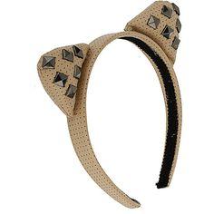 Studded Cat Ear Aliceband ($20) via Polyvore