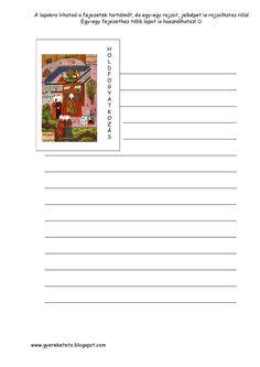 Egri_csillagok_lapbook_Oldal_40 - Gyereketető Gyereketető Interactive Notebooks, Vocabulary, Edm, Playing Cards, Teacher, Education, Reading, Professor, Playing Card Games