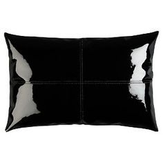 patent leather pillow - oooooh glossy!