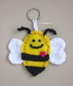 Felt Bumble Bee Keychain