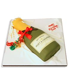 Champagne Bottle Cake delivered anywhere in the London area. Plus over 800 other cake designs, made fresh to order. Click for London's favourite cake maker