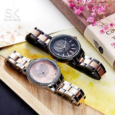 26f08f2e34d  Shengke Rose Gold Watch Women Quartz Watches  Ladies Top Brand Crystal  Luxury Female Wrist