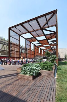 the Brazilian one pavillon / Designed by MOSAE Studio with Arthur Casas Studio and Atelier Marko Brajovic / cortex steel