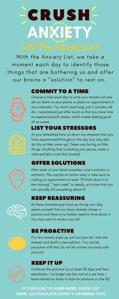Stress management : Anxiety can steal our joy and rob us of enjoying each day. Anxiety is also a maj