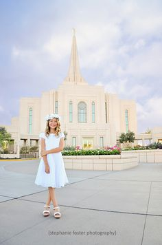 Stephanie Foster Photography: It's Great to be Kate Turning 8! LDS Baptism Photo Gilbert Arizona Temple