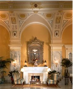 Lobby at The Hermitage Hotel, Nashville, Tennessee