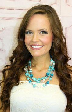 Turquoise Stone Layered Necklace