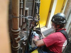 Plumbing at Heights #Abseiling #RopeAccess #WorkAtHeights #HeightSafety #RopeAccessTechnician #HighRisePlumbing #AbseilersUnited