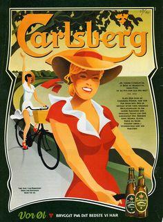 Beer - Carlsberg - Old Advertising Beer Advertisement, Retro Advertising, Vintage Advertisements, Vintage Ads, Vintage Posters, Beer Poster, Beer Pictures, Beer Brewery, Beer Signs