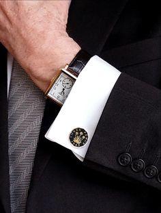 ee5989f96193 mens style, smart man, tank watch, cufflinks, classic styled man, watermans