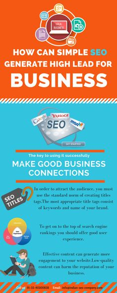 Simple Seo techniques can generate high lead for your business and make good business connections.For more log in to http://www.indian-seo-company.com/ for more.