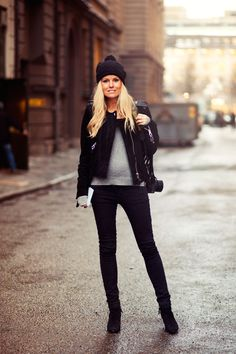 city style maternity // black // fall winter