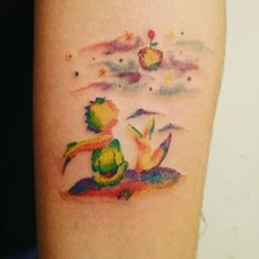 El Principito The Littleprince Le Petit Prince Tattoo Full Colors Tatuaje BY GUISHES TATUAJES MONTEVIDEO