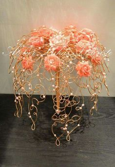 Peach rose & metal tree inspiration