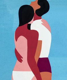 Quentin grew up on a beach in south of France, where he started out drawing simple silhouettes in the sand. Block Painting, Modern Color Palette, Woman Illustration, Better Together, Gravure, Illustrators, Abstract Art, Character Design, Handsome