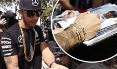 Lewis Hamilton arrives at Formula One dripping in bling