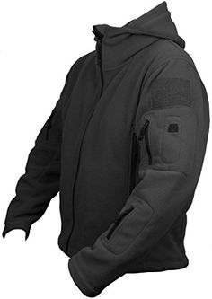 From Mens Tactical Military Army Combat Us British Fleece Recon Hoodie Jacket Security Police Smock Xxx-large Black