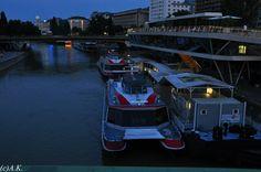 Donaukanal Vienna, Boat, City, Dinghy, Boating, Boats