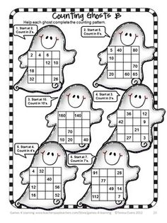 Halloween Math Game for 2 Players. Halloween Math Games, Puzzles and Brain Teasers is a collection of Halloween Math from Games 4 Learning. $