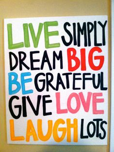 Live Simply Quote Canvas por PeaceAndPainting en Etsy