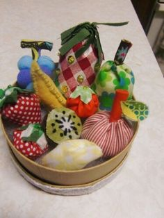Fruits made by fabrics