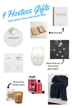 Here are 9 hostess gift ideas that aren't wine and are all under $50 // Cheers J