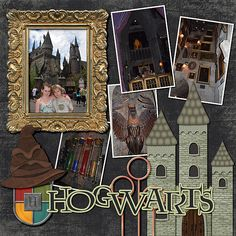 Wizarding World of Harry Potter (Orlando) Non-Disney Theme Parks in the area Harry Potter Games, Harry Potter Universal, Harry Potter World, Harry Potter Scrapbook, Vacation Scrapbook, Disney Scrapbook, Scrapbook Sketches, Scrapbook Page Layouts, Scrapbook Paper Crafts