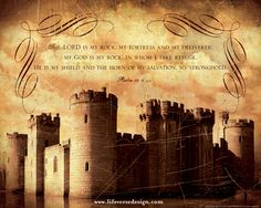 Scripture Art - Bible Verse Art - Christian Gift - Christian Art - Scripture Wall Art - Inspirational Art - Inspirational Quote - Religious Home Decor - Christian Home Decor - Psalms Art Print - Psalm 18 Art - My Fortress and My Deliverer - Pastor Gift - Religious Gift - View more Inspirational art and be encouraged by Life Verse Design