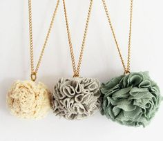 This would be a cute jewelry project! We could use fabric with cute designs!
