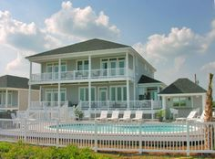 Dream Maker a 7 Bedroom Oceanfront Rental House in Salter Path, part of the Crystal Coast of North Carolina. Includes Elevator, Private Pool, Hot Tub, Hi-Speed Internet, Linens