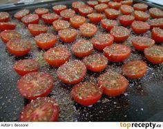 Domácí sušená rajčata TOP Home Canning, Preserves, Pickles, Ham, Sausage, Good Food, Food And Drink, Pizza, Homemade