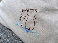 Medvědí.+Povlak+na+polštář+dle+přání+a+domluvy.+